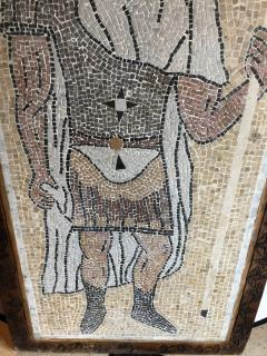 Atlas Showroom Micro Mosaic Tile Wall Plaque or Table Top of a Centurion in Wood Frame - 1037077