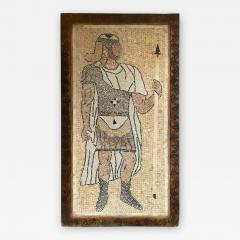 Atlas Showroom Micro Mosaic Tile Wall Plaque or Table Top of a Centurion in Wood Frame - 1037336