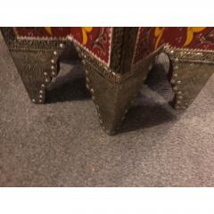 Atlas Showroom Moorish Brass and Wood Moroccan Brown End Table - 1035916