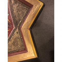 Atlas Showroom Moorish Brass and Wood Moroccan Brown End Table - 1035918