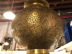 Atlas Showroom Moroccan Chandelier or Pendant in Brass with Filigree Design a Pair - 1710385