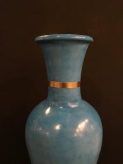 Atlas Showroom Moroccan Hand Painted Blue Vase - 1030445