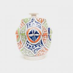 Atlas Showroom Moroccan Multicolor Ceramic Jar or Urn - 1063450