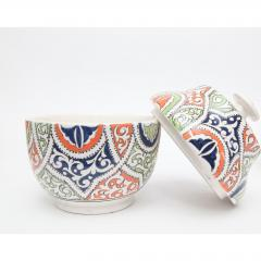 Atlas Showroom Moroccan Multicolor Ceramic Jar or Urn - 1063451