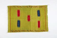 Atlas Showroom Moroccan Rug Berber Tribal Handwoven Wool with Organic Dye - 1145152