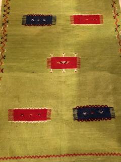 Atlas Showroom Moroccan Rug Berber Tribal Handwoven Wool with Organic Dye - 1145153