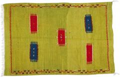 Atlas Showroom Moroccan Rug Berber Tribal Handwoven Wool with Organic Dye - 1145658