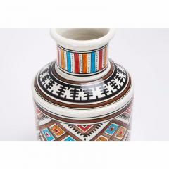 Atlas Showroom Moroccan hand crafted Square Brown and White Vase - 1063445