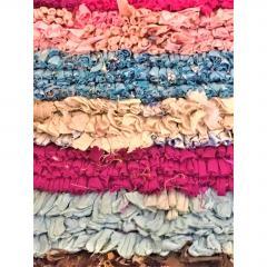 Atlas Showroom Morocco Boho Chic Boucherouite Small Multicolored Rug - 1035870