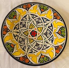 Atlas Showroom Pair of Hand Painted Large Ceramic Serving or Decorative Plates - 1164517