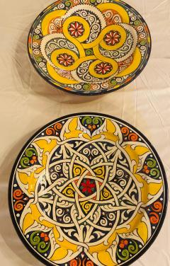 Atlas Showroom Pair of Hand Painted Large Ceramic Serving or Decorative Plates - 1164521