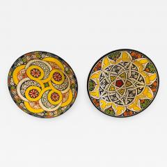 Atlas Showroom Pair of Hand Painted Large Ceramic Serving or Decorative Plates - 1165368