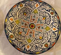 Atlas Showroom Pair of Hand Painted Large Ceramic Serving or Decorative Plates - 1164533