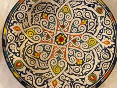 Atlas Showroom Pair of Hand Painted Large Ceramic Serving or Decorative Plates - 1164535
