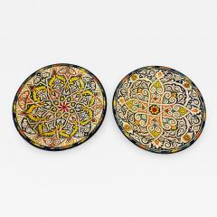 Atlas Showroom Pair of Hand Painted Large Ceramic Serving or Decorative Plates - 1165370