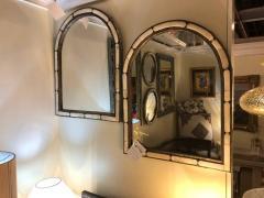 Atlas Showroom Pair of Large Hollywood Regency Style Moroccan White Camel Bone Mirrors - 1024656