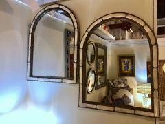 Atlas Showroom Pair of Large Hollywood Regency Style Moroccan White Camel Bone Mirrors - 1024659