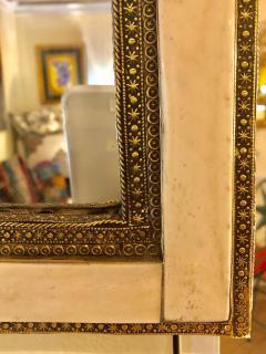 Atlas Showroom Pair of Large Hollywood Regency Style Moroccan White Camel Bone Mirrors - 1024660