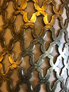 Atlas Showroom Pair of Moroccan Brass Wall Lanterns Sconces - 1024730