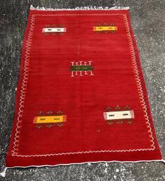 Atlas Showroom Red Berber Tribal Moroccan Medium Wool Rug - 1145070