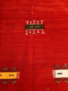 Atlas Showroom Red Berber Tribal Moroccan Medium Wool Rug - 1145071