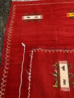 Atlas Showroom Red Berber Tribal Moroccan Medium Wool Rug - 1145073