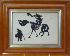 Auguste Edouart Rare Edouart Silhouette of Mythical Creatures - 1727975