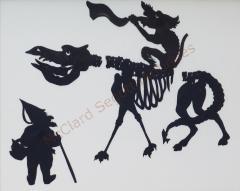 Auguste Edouart Rare Edouart Silhouette of Mythical Creatures - 1727976