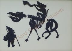 Auguste Edouart Rare Edouart Silhouette of Mythical Creatures - 1728249