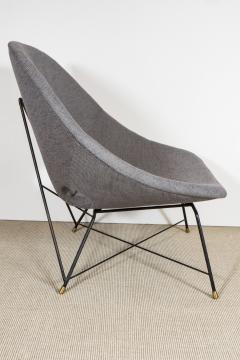 Augusto Bozzi Pair of steel frame chairs by Augusto Bozzi for Fratelli Saporiti - 1510676