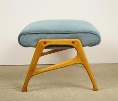 Augusto Romano Armchair and ottoman in mineral blue silk velvet by Augusto Romano for Cassina - 1509764