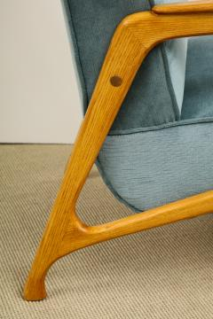 Augusto Romano Pair of Velvet Chairs Ottomans - 609638