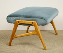 Augusto Romano Pair of Velvet Chairs Ottomans - 609640