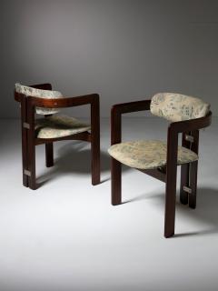 Augusto Savini Pair of Pamplona Chairs by Augusto Savini for Pozzi - 1161775
