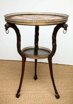 Austrian Neoclassical Gueridon with Micro Mosaic and Specimen Marble Top - 1948100