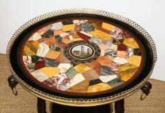Austrian Neoclassical Gueridon with Micro Mosaic and Specimen Marble Top - 1948101