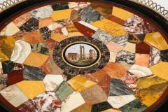 Austrian Neoclassical Gueridon with Micro Mosaic and Specimen Marble Top - 1948102