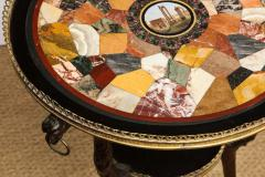 Austrian Neoclassical Gueridon with Micro Mosaic and Specimen Marble Top - 1948103