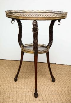 Austrian Neoclassical Gueridon with Micro Mosaic and Specimen Marble Top - 1948107
