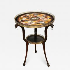 Austrian Neoclassical Gueridon with Micro Mosaic and Specimen Marble Top - 1949967