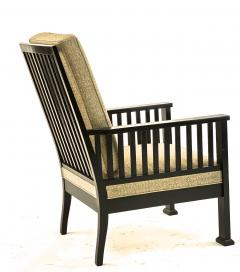 Austrian secession blackened wood pair of refined lounge chair - 1519854