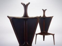 Authentic Italian Mid Century Rosewood Corner Tables from the 1950s - 940433