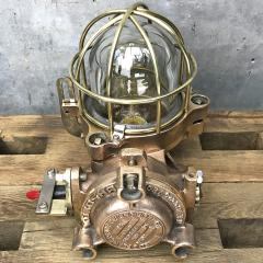 Authentic industrial Flameproof Bronze Table Lamp - 1020444