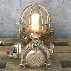 Authentic industrial Flameproof Bronze Table Lamp - 1020445