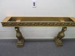Awesome Gothic Gold Griffon Pier Mount Marble Top Console Table Regency - 1674029