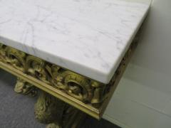 Awesome Gothic Gold Griffon Pier Mount Marble Top Console Table Regency - 1674033