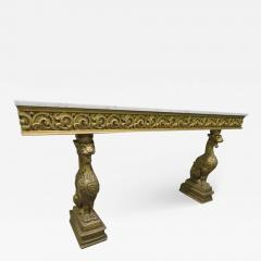 Awesome Gothic Gold Griffon Pier Mount Marble Top Console Table Regency - 1676492