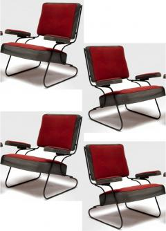 Awesome fifties set of 4 arm chairs in genuine vintage condition - 1706410