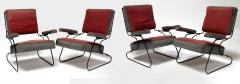 Awesome fifties set of 4 arm chairs in genuine vintage condition - 1706414