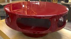 Awesome flying soccer red lacquered coffee table - 956096